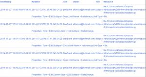 Hackystat database screenshot