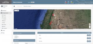 LatinaUC Screenshot: Sensors Group edition view