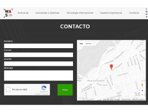WAS Screenshot: Contact form