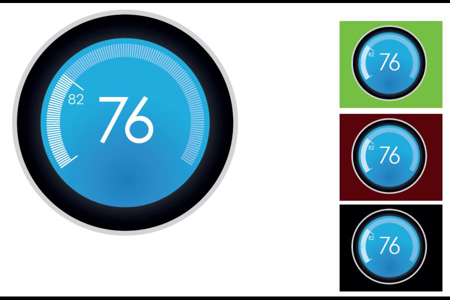 eGreen: Final Tachometer dark-themed design