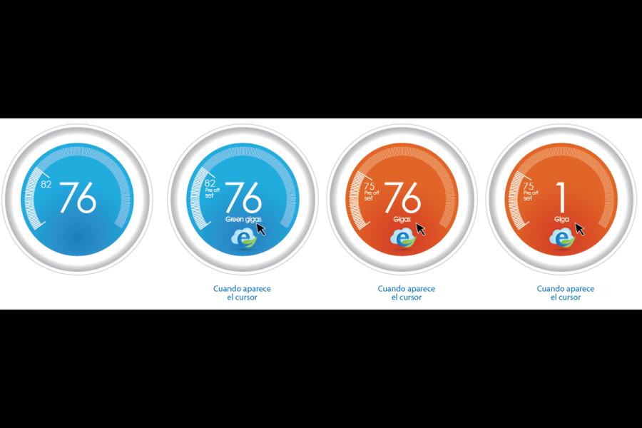 eGreen: Final Tachometer design interactions