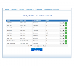 NAB Screenshot: Notifications list