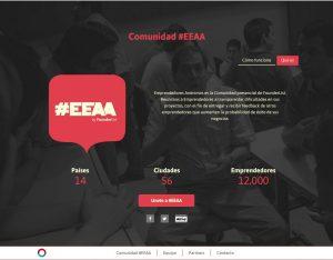 Founderlist App Screenshot: EEAA section