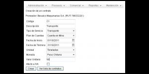 CMCTMP App Screenshot: Managing Contracts