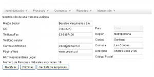 CMCTMP App Screenshot: Managing Suppliers