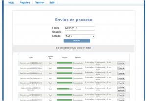Codigo de Comercio Screenshot: Processing batch