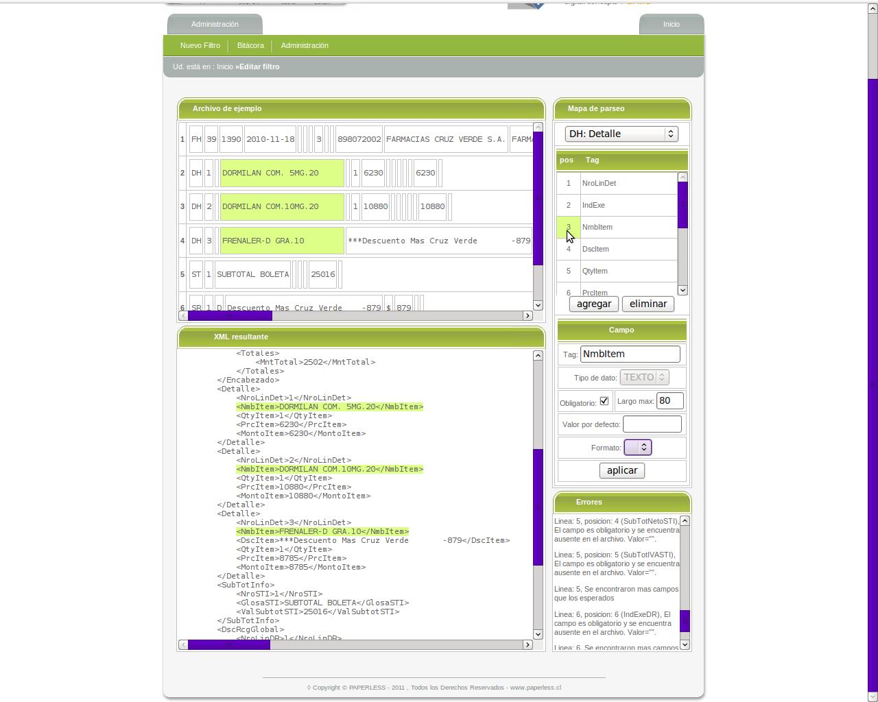 Screenshot of GEFA