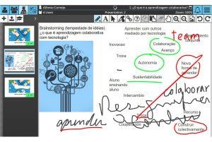 Sketchpad Screenshot: Brainstorming on a Slide