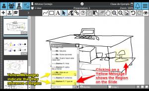 Sketchpad User Manual: Chat Region highlighting
