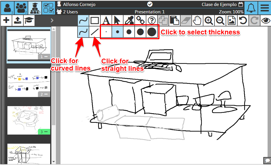 Sketchpad User Manual: Drawing Stroke options