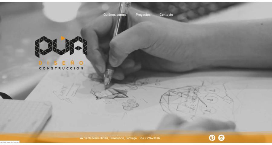 PUA Website Screenshot: Landing page