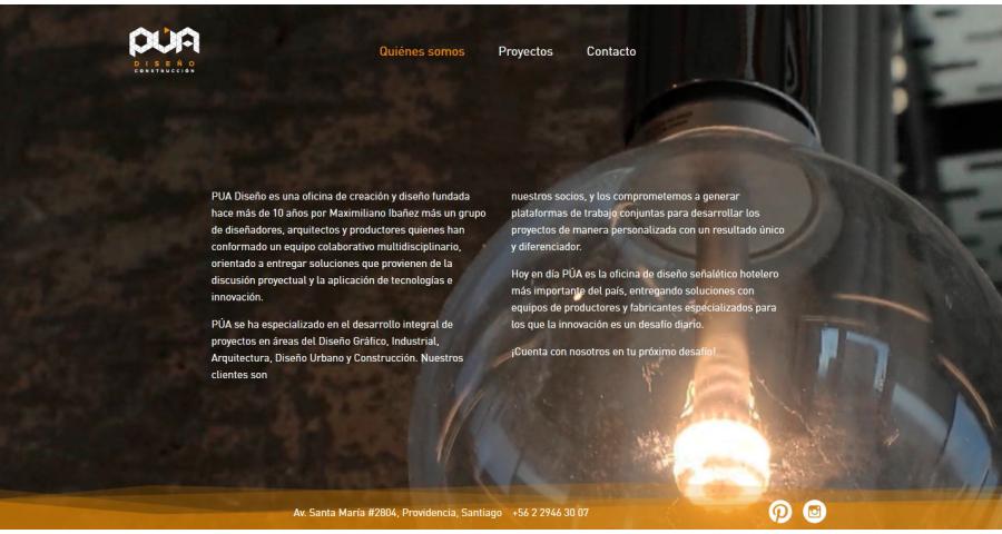 PUA Website Screenshot: About PUA
