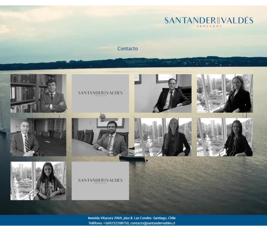 Santander Valdés Website Screenshot: Team