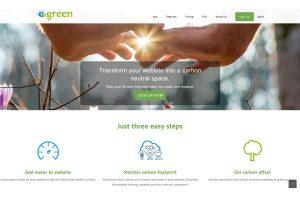 eGreen Website Screenshot