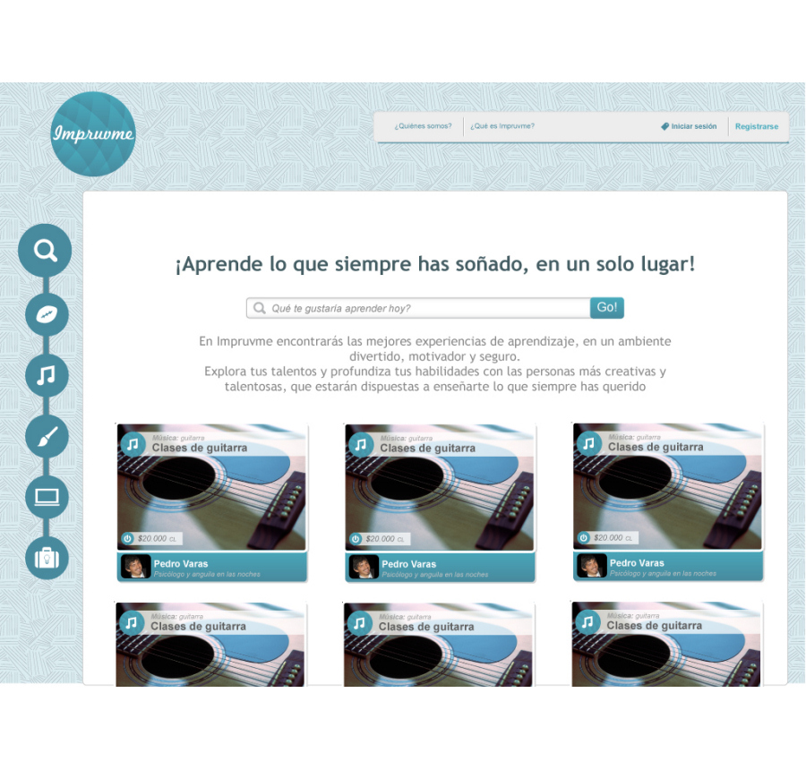 Impruvme Website Landing design