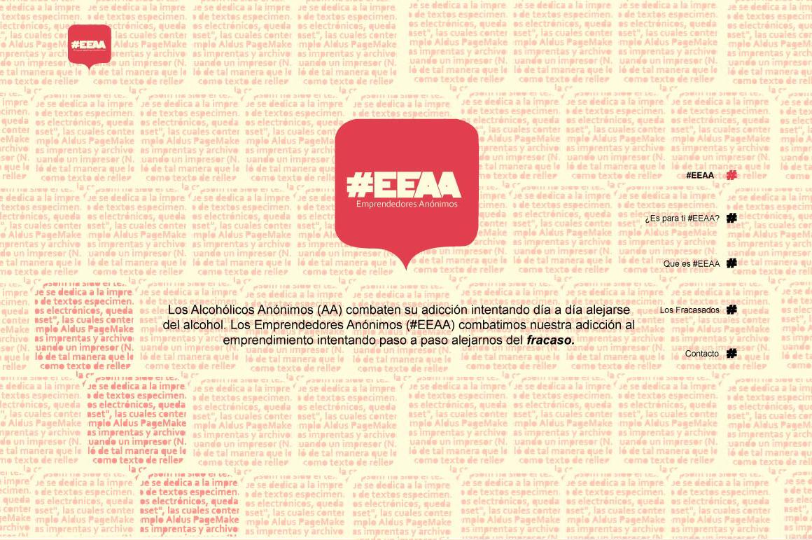 EEAA Website Screenshot: Landing section