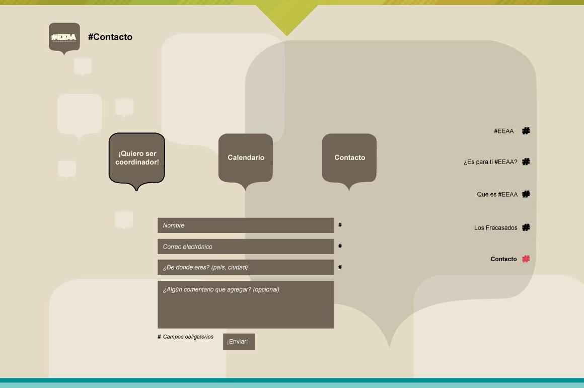 EEAA Website Screenshot: Contact form