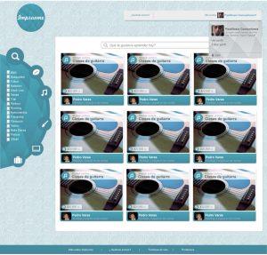 Impruvme Website courses browsing design