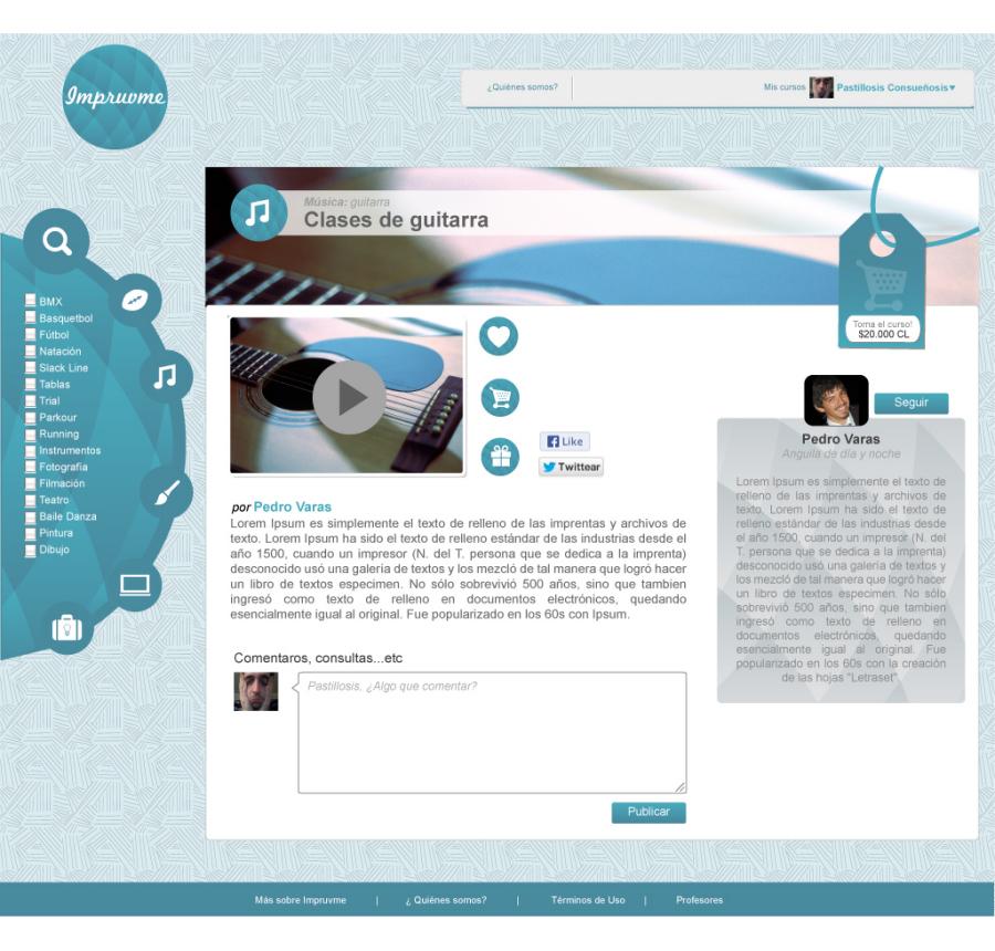 Impruvme Website course design