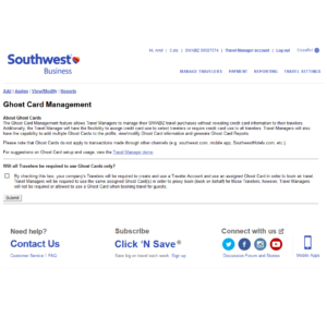 Southwest Business Ghost Card Management