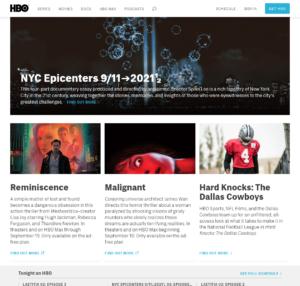 HBO Homepage